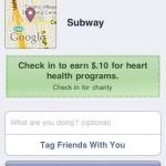Subway FaceBook Places Heart Health Program